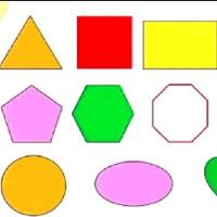 Fashcard cho bé học tiếng Anh - Chủ đề hình học