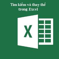 Tìm kiếm và thay thế trong bảng tính Excel