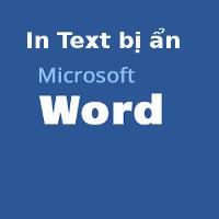Cách in text bị ẩn trong Word