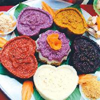 Cách nấu xôi ba màu hấp dẫn cho Rằm tháng 7
