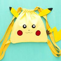 Cách may túi rút hình Pokemon siêu đáng yêu