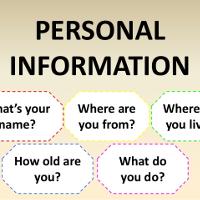 Bài tập Tiếng Anh lớp 7 Unit 2: Personal Information