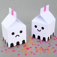 Cách gấp hộp quà hình ngôi nhà ma ngày Halloween