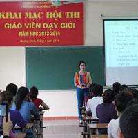 Đề thi giáo viên dạy giỏi môn Ngữ văn cấp THPT tỉnh Quảng Ninh năm học 2013 - 2014