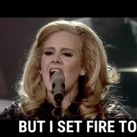 Học tiếng anh qua bài hát: Set fire to the rain - Adele