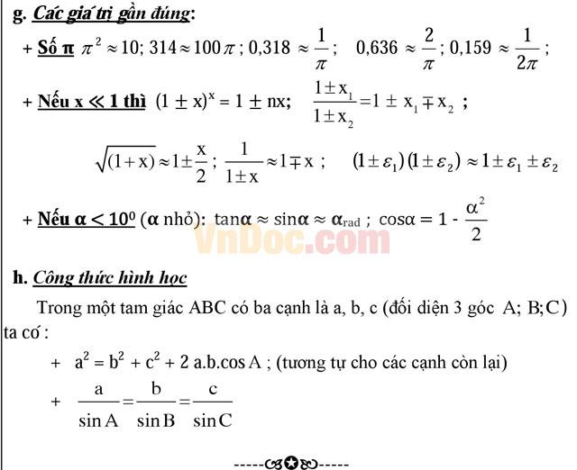 Trọn bộ công thức giải nhanh môn Vật lý lớp 12 cực đầy đủ