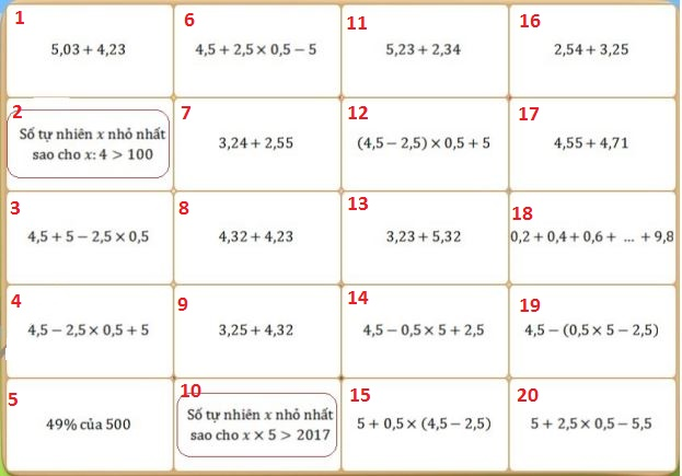 Đề thi Violympic Toán lớp 5 vòng 16 năm 0888806742 - Đề thi giải Toán qua mạng lớp 5 có đáp án