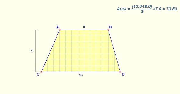 Cách tính diện tích hình thang chu vi hình thang