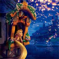 Bộ tranh tô màu công chúa tóc mây dành cho bé gái