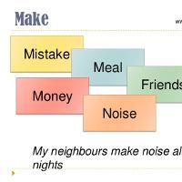 Những cụm từ tiếng Anh đi với Do, Make và Have