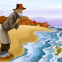 Trong vai ông Lão, cá vàng hoặc mụ vợ hãy kể lại chuyện Ông lão đánh cá và con cá vàng