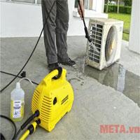 Máy rửa xe gia đình có xịt rửa điều hòa, máy lạnh được không?