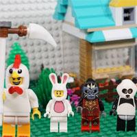 Hướng dẫn lắp ráp LEGO hình con gà tây