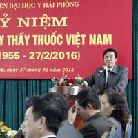 Bài phát biểu tại lễ kỷ niệm ngày thầy thuốc Việt Nam