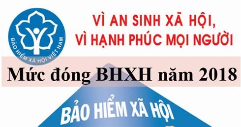 Mức đóng BHXH năm 2018