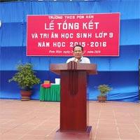 Bài phát biểu tổng kết năm học của lãnh đạo địa phương