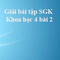 Giải bài tập SGK Khoa học 4 bài 2: Trao đổi chất ở người