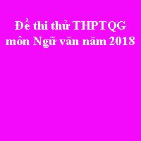 Đề thi thử THPT quốc gia môn Ngữ văn năm 2018 Sở GD&ĐT Quảng Bình