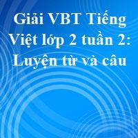 Giải vở bài tập Tiếng Việt lớp 2 tập 1 tuần 2: Luyện từ và câu