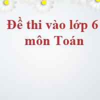 Đề thi vào lớp 6 môn Toán trường THCS Đoàn Thị Điểm, Hưng Yên