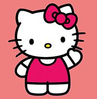 Tranh tô màu cho bé hình mèo Kitty