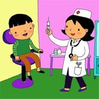 Tranh tô màu chủ đề bác sĩ cho bé nuôi dưỡng ước mơ