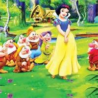Tranh tô màu nàng công chúa Bạch Tuyết dành cho bé gái