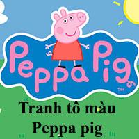 Tranh tô màu Peppa pig