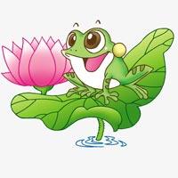 Tranh tô màu hình con ếch