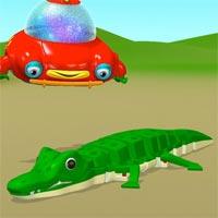Tranh tô màu con cá sấu cho bé