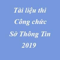 Tài liệu thi công chức Sở thông tin và truyền thông năm 2019 TP Hà Nội