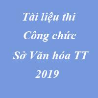 Tài liệu thi công chức Sở văn hóa thể thao 2019 TP Hà Nội