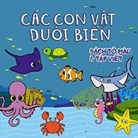 Tranh tô màu loài vật dưới biển