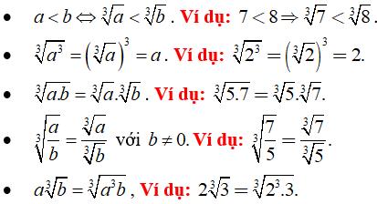Lý thuyết: Căn bậc ba