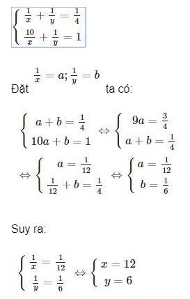 Giải bài toán bằng cách lập hệ phương trình