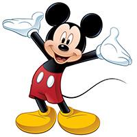 Tranh tô màu chuột Mickey