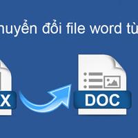 Cách đổi đuôi docx sang doc trong Word