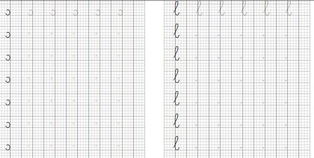 Mẫu chữ luyện viết lớp 1