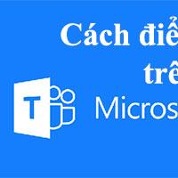 Hướng dẫn điểm danh trên Microsoft Teams