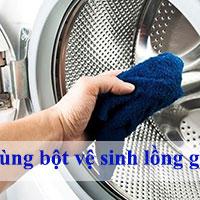 Cách dùng bột vệ sinh lồng giặt máy giặt chuẩn nhất
