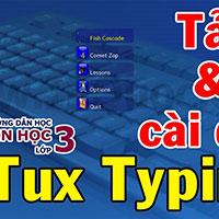 Phần mềm Tux Typing: Game chim cánh cụt ăn cá