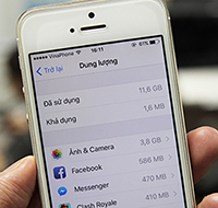 Cách giải phóng dung lượng iPhone