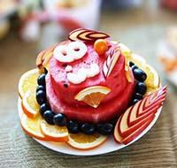Trang trí đĩa trái cây đẹp