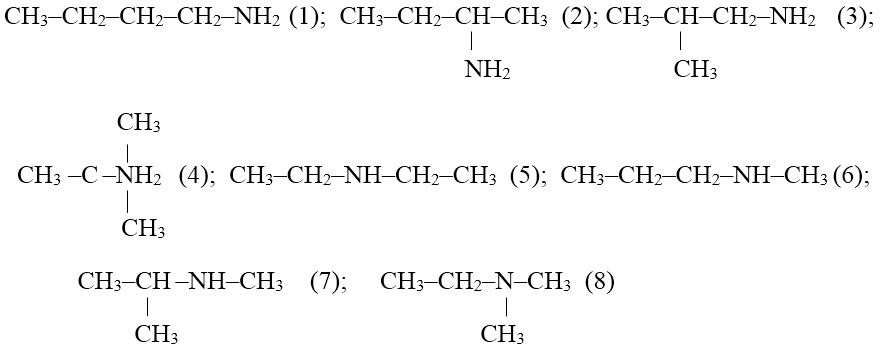 Bài tập về đồng phân amin và danh pháp