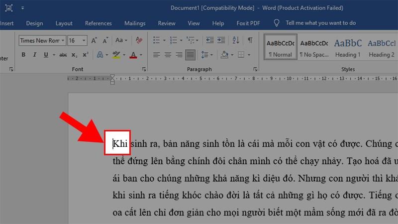Cách thụt lề dòng đầu tiên trong Word