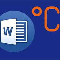 Hướng dẫn 4 cách viết độ C trong Word